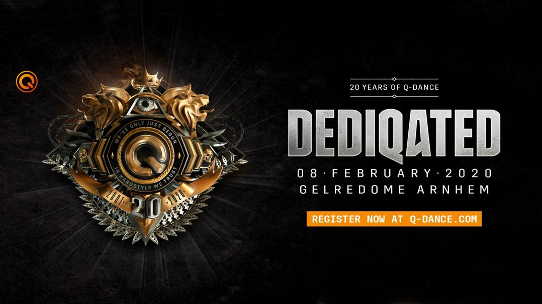 DEDIQATED | 20 years of Q-dance Logo